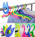 Traveling Portable Foldable Fold Plastic Clothes Hanger Hook Drying Rack