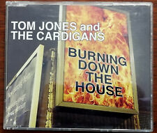 Tom Jones And The Cardigans Burning Down The House CD Single CDGUT26 – Ex