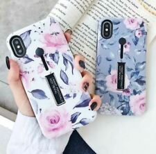 Hidden Holder Case For iPhone XR 7 Plus 6S 8 X XS Max Finger Ring Cover Flower