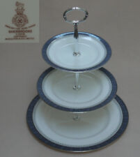 """Royal Doulton """"Sherbrooke"""" THREE TIER CAKE STAND"""