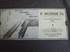 P8 OMARO ABAQUE 1936 fer profiles , lamines, fers plats, carrés,.. Ets Nicodeme