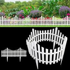 Garden Border Plastic Fencing Fence Pannels Outdoor Landscape Edging Yard 12Pack