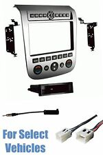 Silver Radio Install Dash Kit Combo for 2003 2004 2005 2006 2007 Nissan Murano