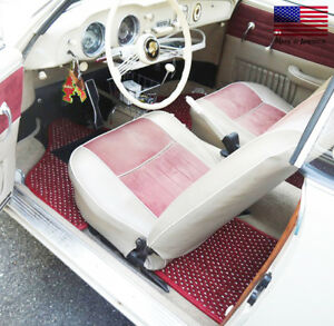 Volkswagen Karmann Ghia 1955-1974 Custom Car Floor Mats CocoMats 4 Piece Set