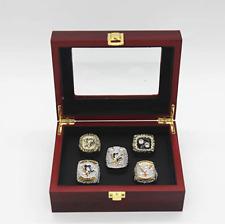 NHL Pittsburgh Penguins Championship Ring Replica Display 5 Ring Set Collectors