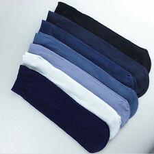 10 Pairs Men's Business Socks Thin Stretchy Cool Summer Silk Socks Soft Comfy