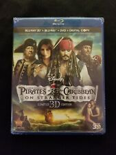 Pirates Of The Caribbean On Stranger Tides 3d Blu ray+Blu Ray+DVD, Lot B3.