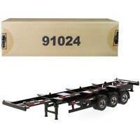 40' Skeleton Trailer Black Transport Series 1/50 Diecast Model by Diecast 91024