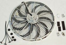 "CHROME 16"" HEAVY DUTY REVERSABLE ELECTRIC COOLING FAN 3000CFM WITH MOUNTING KIT"