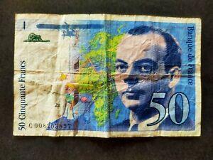 France billet 50 francs 1993 type Saint Exupéry