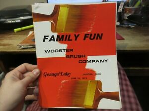 1973 Geauga Lake Amusement Park Aurora Ohio Wooster Brush Company Family Day Old