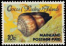 "COCOS ISLANDS 228 (SG234) - ""Conus miles"" Provisional (pa53274)"