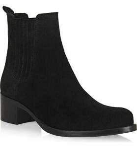 $425 - La Canadienne Prince Black Waterproof Suede Boots Size 9