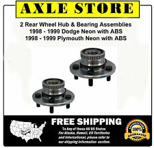 2 New REAR Wheel Hub And Bearing Assemblies 1999 - 98 Neon with ABS NT512013