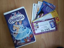 Cinderella Walt Disney VHS Masterpiece Collection  RARE 1995 Original Paperwork