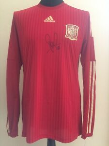 Spain Home Player Issue Spec Adizero Shirt Signed By David Silva With Guarantee