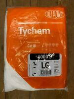 DuPont Tychem 4000S White Disposable Suit CAT III Type 3 4 5 6 Coverall Overall