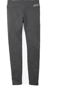 Justice Girl's Size 10 Active Leggings in Grey New with Tags