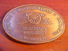 """Marshall Hyman Solid Brass Belt Buckle Mens 2.5"""" X 3.75"""" Iroquois Project M680"""