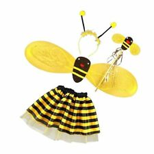 4Pc Bumble Bee Honey Girls Kids Fairy Halloween Fancy Dress Up Party Costum A7B9