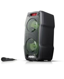 Sharp PS-929 180W Portable Party Speaker System LED lights with different modes