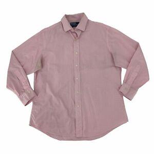 Polo Ralph Lauren Regent Dress Shirt Mens Size 16.5 Long Sleeve Custom Fit *READ