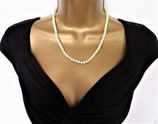 """Hermosa 18 """"Gargantilla Collar con perlas de vidrio y cierre de aspecto vintage años 30"""