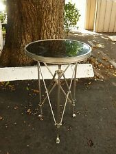 ELEGANT NEOCLASSICAL MARBLE AND METAL GUERIDON TABLE