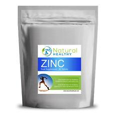 Zinco Compresse pelle sana sistema immunitario sano naturale 90 Pillole Ziplock imballato