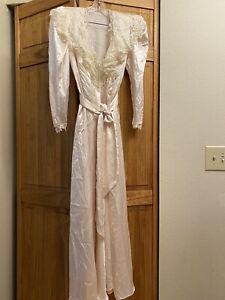 VTG Jonquil by Diane Samandi 2-piece Robe & Gown Small Bridal