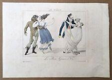 Gravure Originale Ancienne La Walse Le Bon Genre N°1 Pierre de la Mesangère 1827