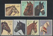 LAOS N°803/809**  chevaux de race 1987, horses Sc#813-819 MNH