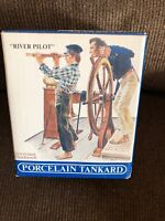Norman Rockwell - RIVER PILOT - PORCELAIN TANKARD Mint in Box MIB Seafarers