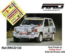 DECAL/CALCA 1/43; Seat Panda 45; Vallejo-Novo; Rally de Orense 1986