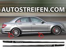 Mercedes Benz C63  - 507 AMG Optik Seitenstreifen Dekor Aufkleber Set