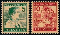 SCHWEIZ 1915, MiNr. 128-129, 128-29, tadellos postfrisch, Mi. 240,-