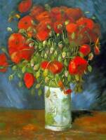 VINCENT VAN GOGH RED POPPIES OLD MASTER ART PAINTING PRINT POSTER 2899OMB