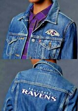 ade587b105fb Limited Edition Levi s Baltimore Ravens Embroidered Denim Jean Trucker  Jacket