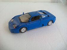 BURAGO 1/24 Bugatti 11 GB  DIECAST MODEL CAR. Coche azul