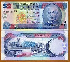 Barbados, $2, 2007, P-66a, UNC