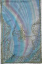 -Authentique Écharpe mousseline SHOW  soie  TBEG  vintage Scarf 130 x 42 cm