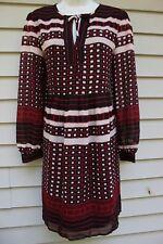 NWT Ann Taylor Loft Outlet Black/Red Print 3/4 Sleeved Dress XL