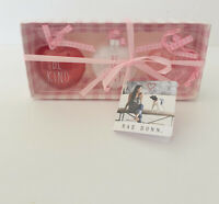 Rae Dunn Ornaments Valentine's Day 3 Hearts LL BE KIND HAPPY BOLD Gift Box NEW