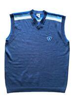 VTG Jordan Sweater Vest Size XL 90s Sleeveless Golf Casual Navy Blue Carolina