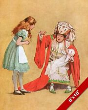 ALICE IN WONDERLAND WITH DUCHESS LEWIS CARROL CANVAS PAINTING ART PRINT
