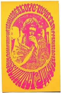 Psychedelic Hippie Poster Love-In in San Francisco 1967 ORIGINAL