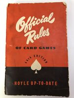 1946 OFFICIAL RULES of Card Games Hoyle Up to Date 44th Ed  Paperback K13