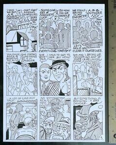 SPIDER-MAN ARTIST PURE STEVE DITKO PENCIL & INK CRIME STORY MADMAN ORIGINAL ART