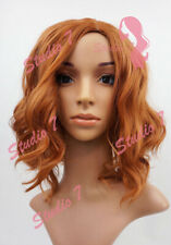 W90 Ladies Wig Auburn/ Dark Ginger Shoulder Length  Beach Waves Wig  studio7-uk