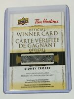 2020-21 TIM HORTONS NHL JERSEY RELICS REDEMPTION CARD SIDNEY CROSBY